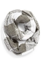 Junior Women's Bp. Boucle Plaid Infinity Scarf