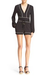 Women's Rachel Zoe 'Paloma' Piped Romper