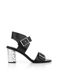 Mcq By Alexander Mcqueen Shacklewell Buckle Strap Sandal Black
