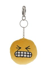 Topshop Grinning Fluffy Keyring Yellow
