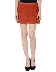 Haute Hippie Mini Skirts Rust