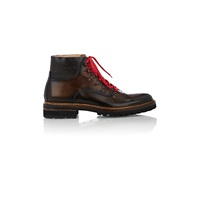 Harris Lace Up Boots Brown