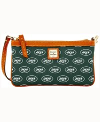 Dooney And Bourke New York Jets Large Wristlet Green