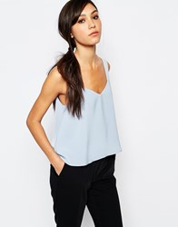 Neon Rose Swing Cami Top Pale Blue