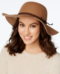 Inc International Concepts Braided Faux Suede Band Floppy Hat Only At Macy's Camel