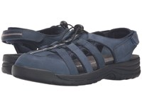 Drew Shoe Element Navy Nubuck Women's Sandals Blue