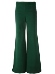 Tory Burch 'Mesteno' Flared Trousers Green