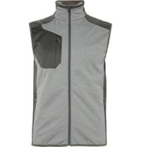 Rlx Ralph Lauren Panelled Jersey And Shell Gilet Gray