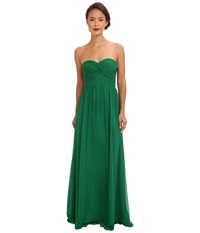 Faviana Strapless Sweetheart Chiffon Dress 7338 Emerald Women's Dress Green