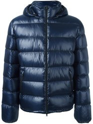 Herno Hooded Padded Jacket Blue
