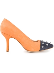 B Store 'Anais 1' Pumps Yellow And Orange