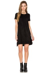 Bishop Young Short Sleeve Knit And Suede Dress Black