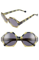 Women's Jonathan Adler 'Waikiki' 55Mm Hexagonal Sunglasses
