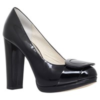 Michael Michael Kors Pauline High Platform Court Shoes Black Patent
