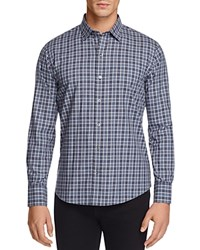 Zachary Prell Flannel Plaid Regular Fit Button Down Shirt Med Gray