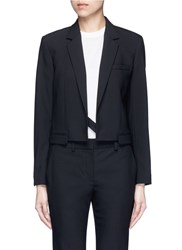 Helmut Lang Crossbody Strap Cutoff Pocket Wool Blazer Black