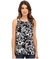 Sanctuary Mod Flounce Top Mod Botanical Women's Blouse Black
