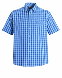 Double Two Check Classic Fit Classic Collar Shirt Blue