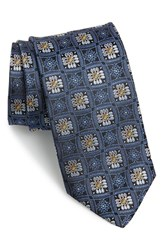 Men's J.Z. Richards Floral Silk Tie Blue