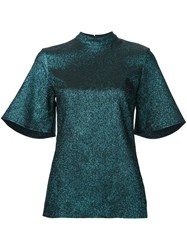 Ellery Glitter Effect Blouse Blue