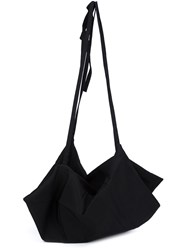 Y's Wool Shoulder Bag Black