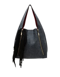 Steve Madden Mariana Fringed Hobo Bag Black