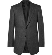Dunhill Grey Belgravia Slim Fit Prince Of Wales Checked Wool Blazer Gray