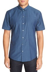 Zachary Prell Men's 'Nathan' Trim Fit Short Sleeve Sport Shirt
