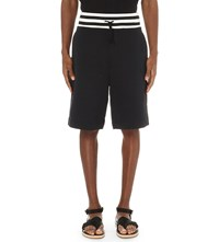 Dries Van Noten Hietala Cotton Jersey Shorts Nav