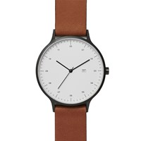Instrmnt 01 A Gunmetal Tan Strap Watch Grey