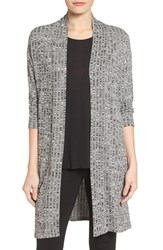 Chaus Women's Marled Rib Open Front Cardigan