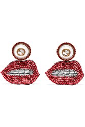 Gucci Lips Gold Plated Gold Red