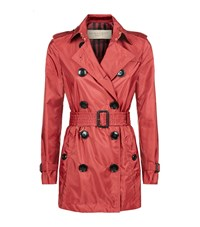 Burberry Kerringdale Technical Trench Coat Female Red