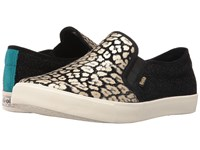 Gola Orchid Safari Slip Black Gold Leopard Women's Shoes