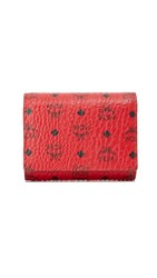 Mcm Small Trifold Wallet Ruby Red