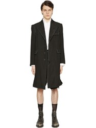 Thom Browne Destroyed Wool And Mohair Coat