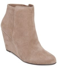 Jessica Simpson Remixx Wedge Booties Women's Shoes Slater Taupe Suede