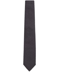 Hugo Boss Men's Patterned Italian Silk Tie Black