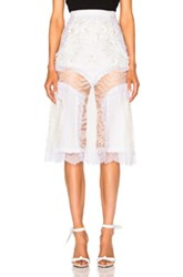Rodarte Lace And Laser Cut Skirt In White