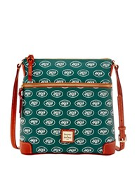 Dooney And Bourke Jets Crossbody Bag Green Jets