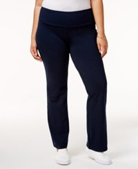 Styleandco. Style Co. Plus Size Tummy Control Stretch Pants Only At Macy's Industrial Blue