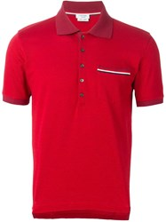 Thom Browne Short Sleeved Polo Shirt Red