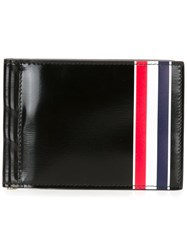 Thom Browne Striped Detailing Wallet Black