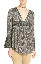 Free People Women's 'Rolling Hills' Print Bell Sleeve Tunic
