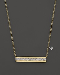 Meira T 14K Yellow Gold Horizontal Bar Pendant Necklace With Diamonds 16