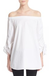 Women's Tibi Off The Shoulder Cotton Tunic