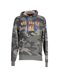 North Sails Topwear Sweatshirts Men Military Green