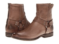 Frye Phillip Harness Grey Soft Vintage Leather Women's Pull On Boots Taupe