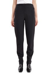 Aalto Elastic Waist Slim Fit Pants Black