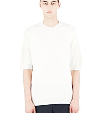 Aiezen Cashmere And Silk Fine T Shirt White